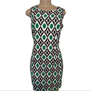 Jessica Geometric Shift Dress Mid Length